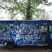 Truck Banksy exhibition Amsterdam