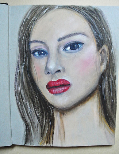 A-mixed-media-girl-from-my-art-journal