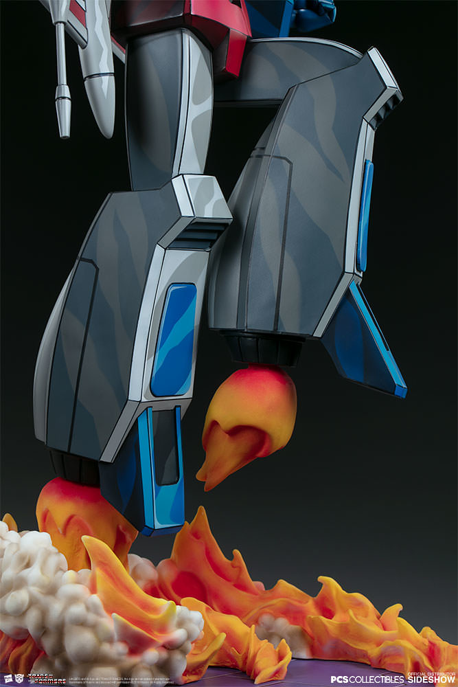 Pop Culture Shock × Sideshow Collectibles Museum Scale《變形金剛:G1》天王星 Starscream 全身雕像作品 普通版/EX版