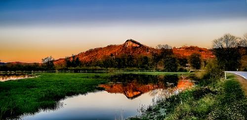 Golden Hour sunset Fall Reflection