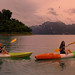 Kayaking through the lush and overgrown waterways deep in National Park Khao Sok by B℮n