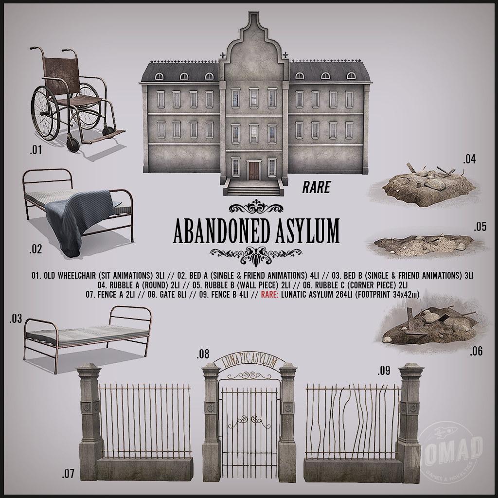 NOMAD - Abandoned Asylum Gacha Key - TeleportHub.com Live!
