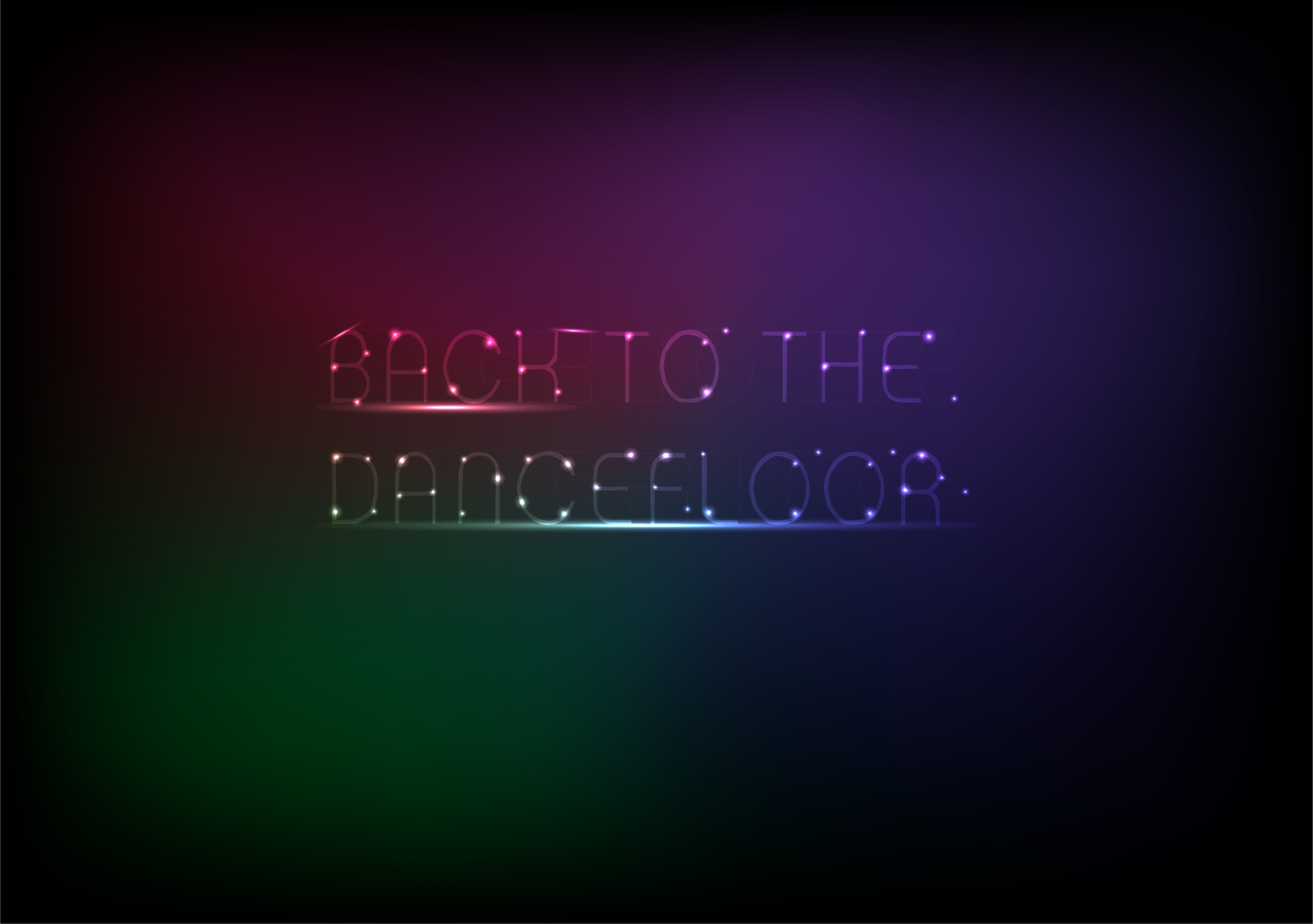 Neon Text Effect – Adobe Illustrator – DancingInOrbit
