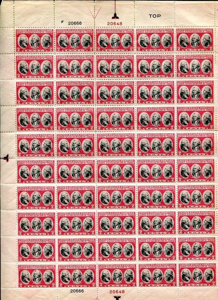 United States - Scott #703 (1931) full sheet