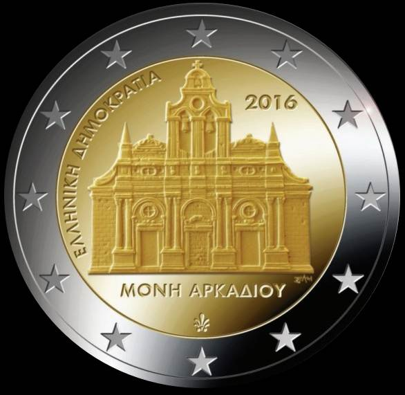 2 Euro Grécko 2016, Kláštor Arkadi