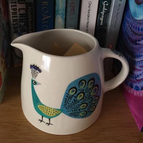 My gratitude jug on the shelf