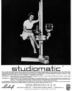 Linhof STUDIOMATIC studio stands advertisement.