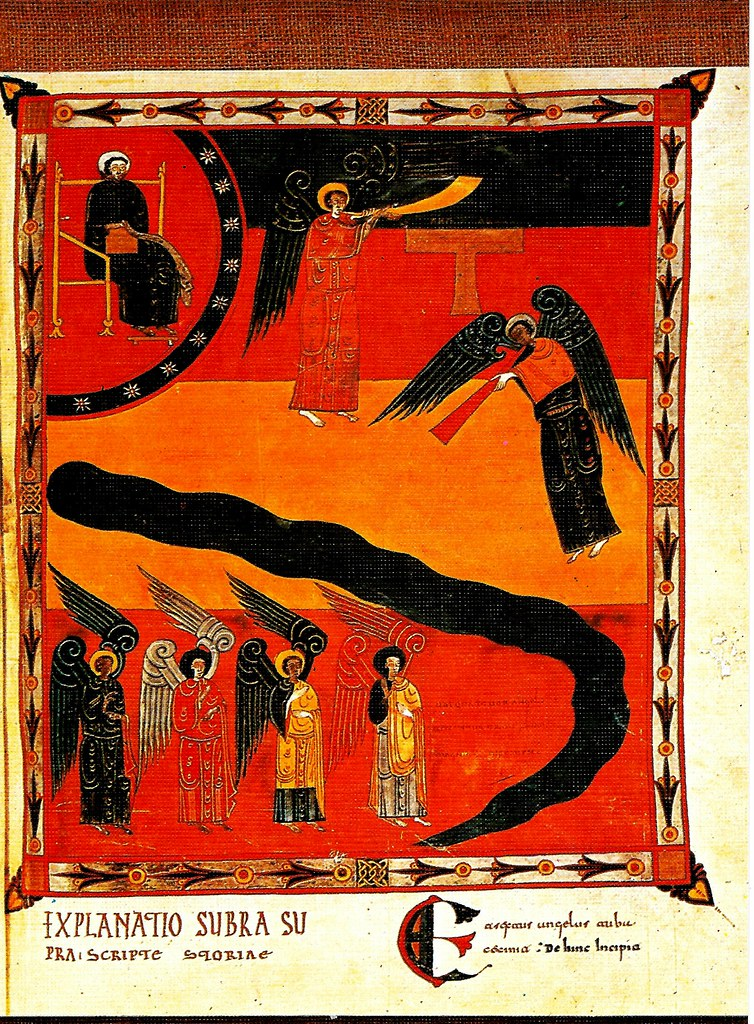 Los cuatro ángeles desatados del río Eufrates para destruir la tercera parte de la humanidad. Ap. IX, 13-16