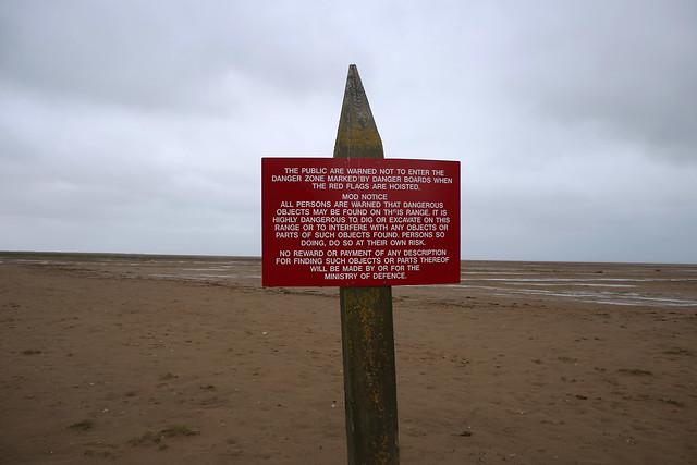 Firing range warning notice