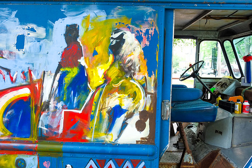 Artistic delivery truck!