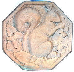 Squirrel Design Copper Galvano reverse