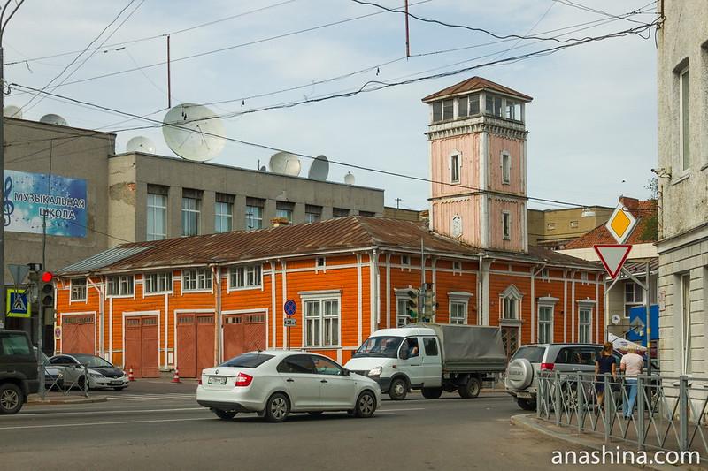 Здание пожарного депо с каланчой, Сортавала, Карелия