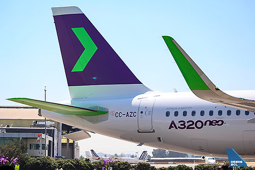 SKY A320neo tail (Luis Colima)