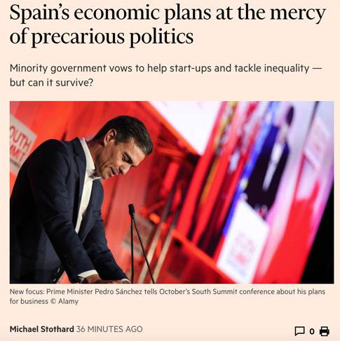 18j23 España a merced de la precariedad política