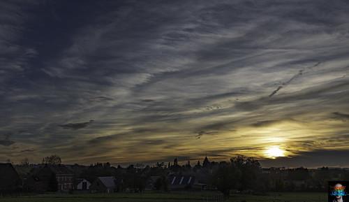 Sunset on the village