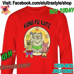 Kung Fu Cats Crewneck