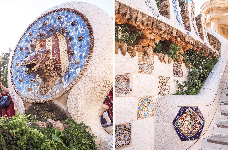 Gaudi arkkitehtuuri mosaiikki