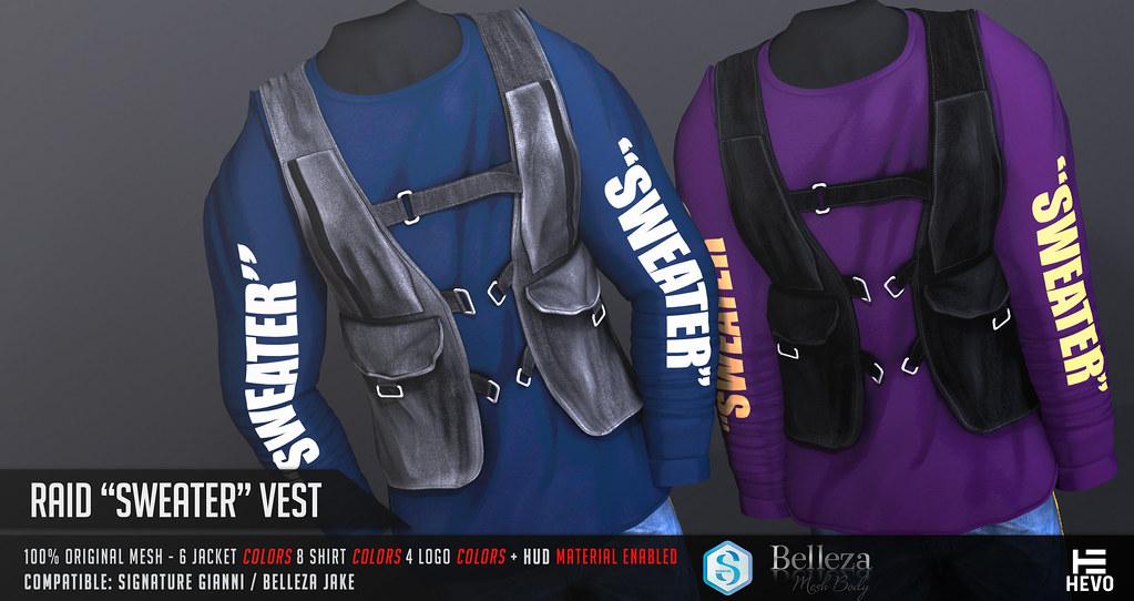 "HEVO – Raid ""Sweater"" Vest @ MANCAVE October 2018"