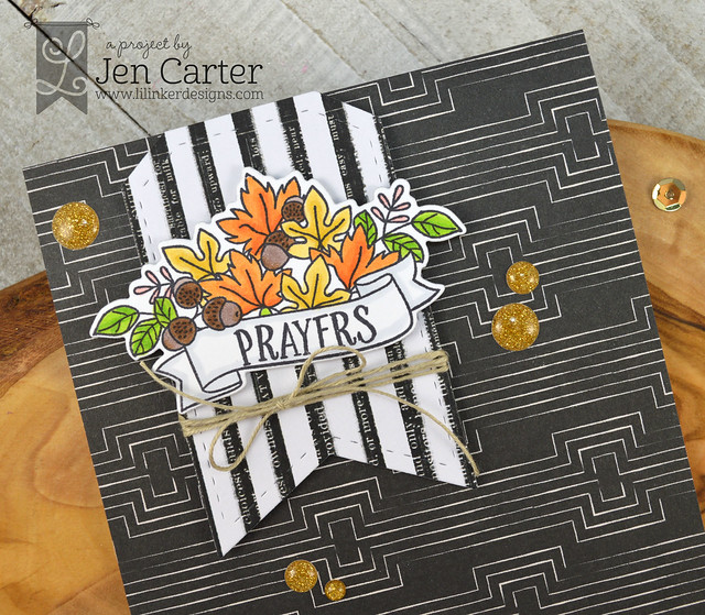 Jen Carter Blossoms & Banners Autumn Closeup