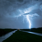 21. September 2018 - 21:53 - This year has been a poor year for thunderstorms in The Netherlands. However, last Fiday evening I was fortunate to capture this shot in a nature area called 'Bentwoud', some 20 km north of Rotterdam. I was soaked to the bone and shivery, but who cares.....?