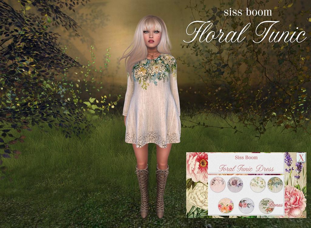 -siss boom-floral tunic dress ad