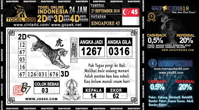 Prediksi Togel Singapore 45 27 September 2018 | Prediksi Tog