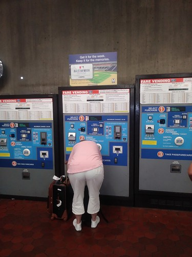 WMATA fare card machines at Union Station, Washington, DC