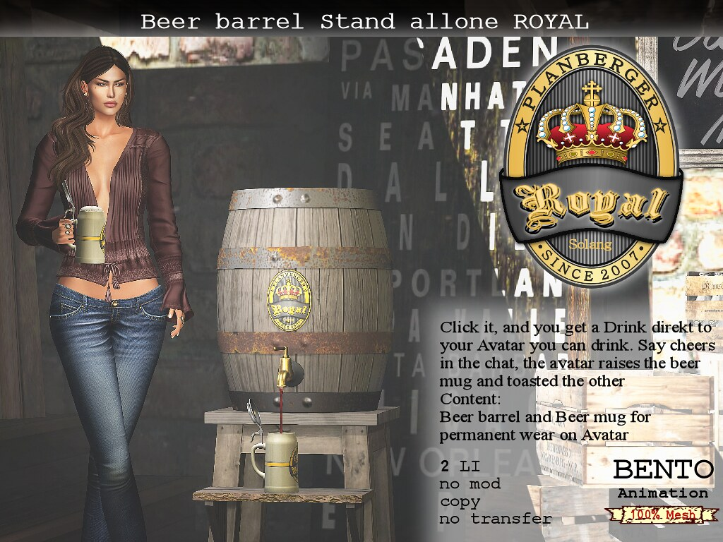 Beer barrel Stand ROYAL