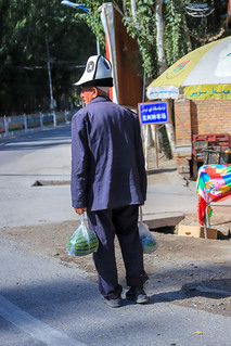 Kyrgyz Old Man in traditional Hat