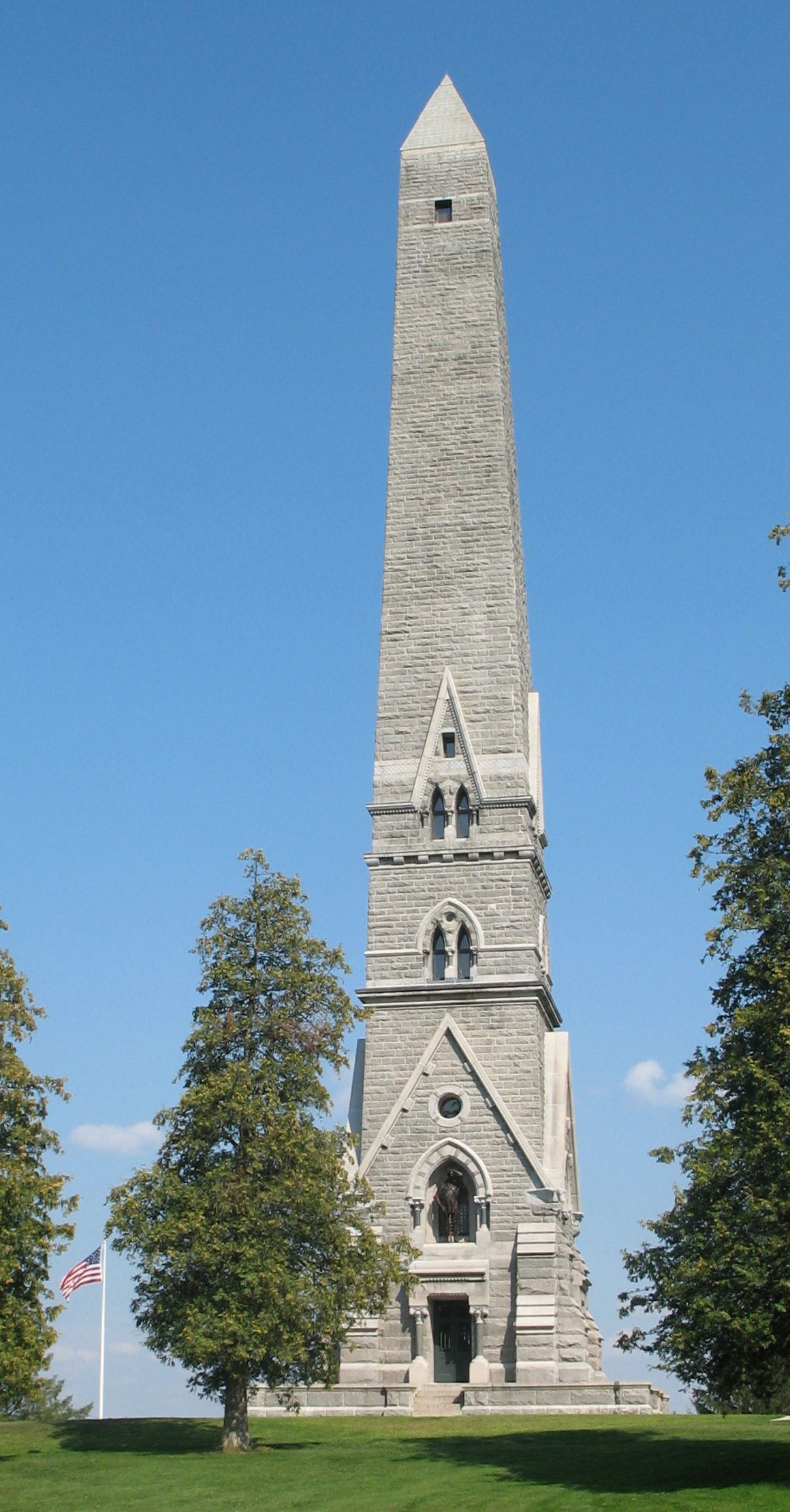 Saratoga Monument in Saratoga National Historical Park at Victory, New York, United States. Photo taken on August 18, 2006.
