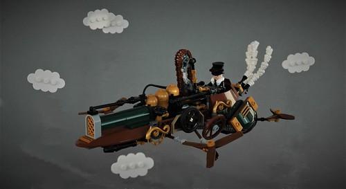 Steampunk quadcopter - Fürflugen