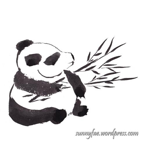 inktober day 30 panda