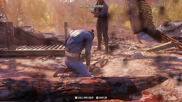 Fallout76 死亡および復活