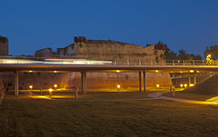Strisce di luce sulle mura di Grosseto - Stripes of light on the Grosseto city walls