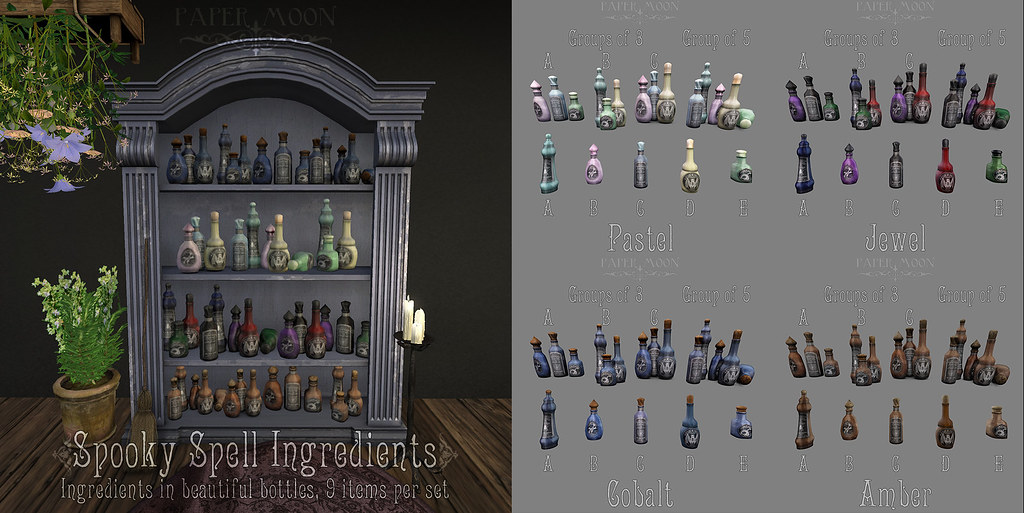 *pm* Spooky Spell Ingredients poster