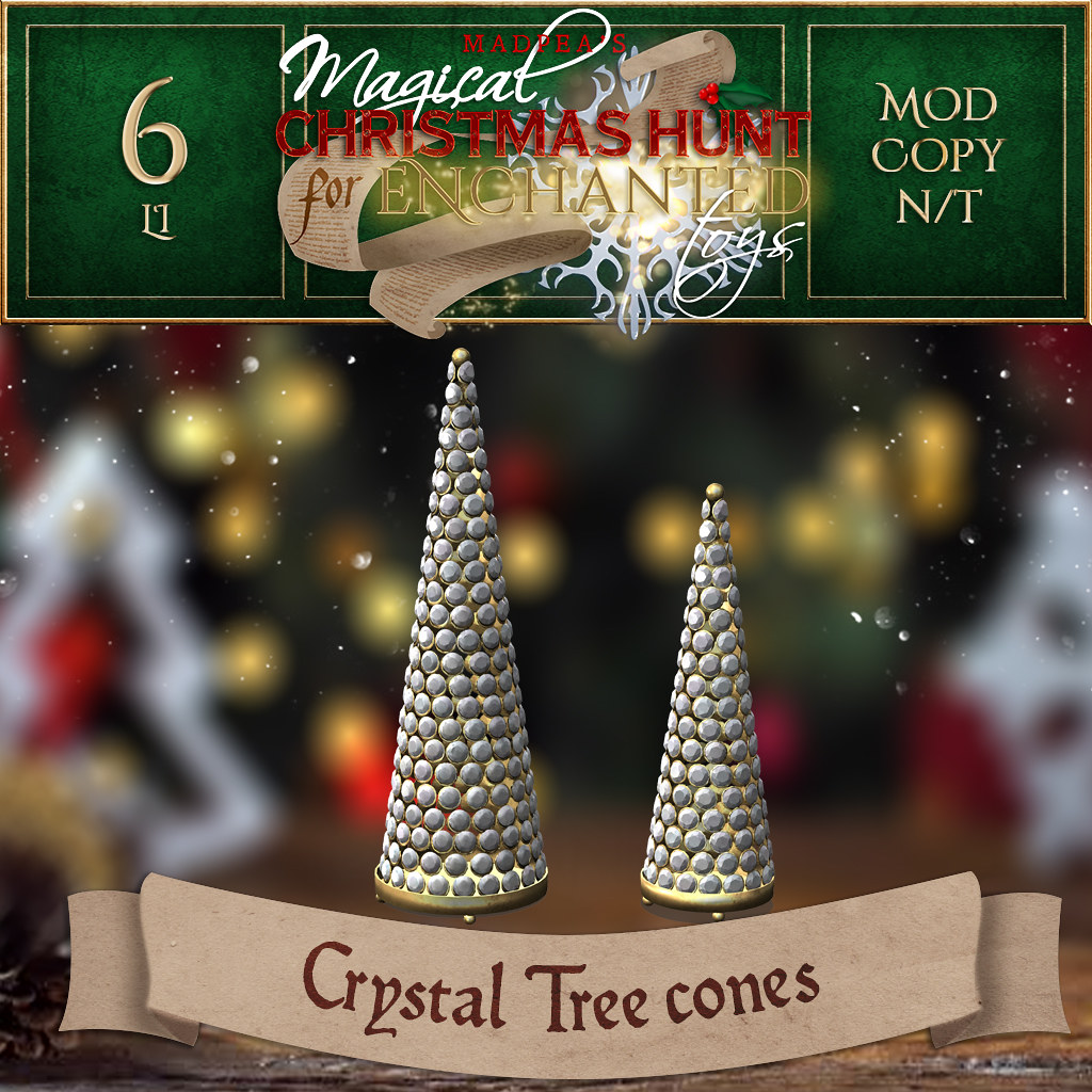 Crystal Tree cones MadPea Christmas Hunt for Enchanted Toys