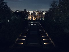 Meridian Hill at night