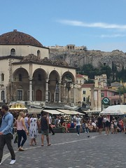The Acropolis From Monastiraki Athens