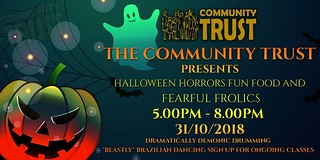 Looking for some #family fun this #Halloween ? We've got you sorted. Spooky special entertainment, frighteningly good food and scary surprises, come down to the SPCT #halloweenparty 2018. 31/10/18 👻🎃🍭🍬😁 https://t.c | by community.trust