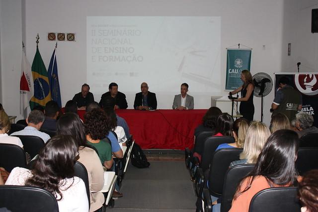 II Seminário Nacional de Ensino e Formação Profissional CAU