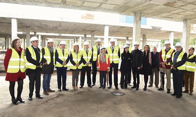 Visita a las obras del nuevo centro de salud del barrio de Santa Bárbara en Toledo