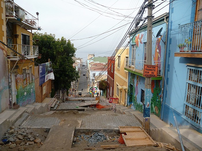 Steep hills of Valparaiso