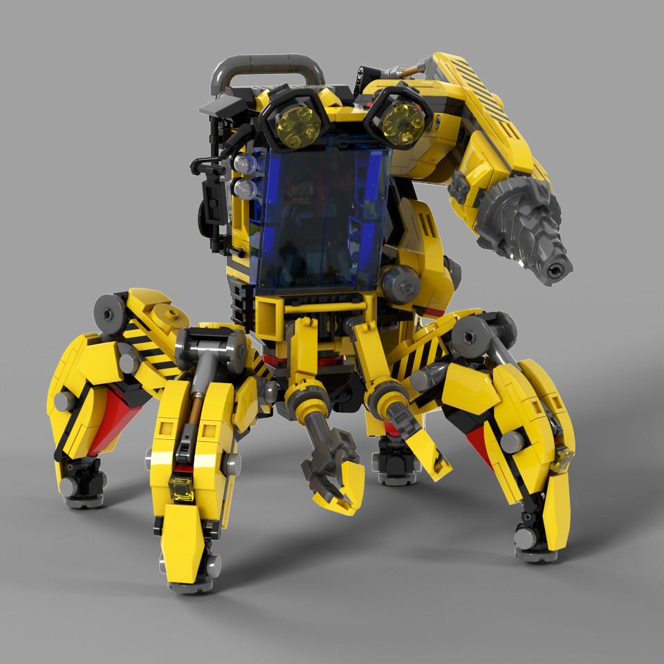 [MOC分享] 四足型工程機甲