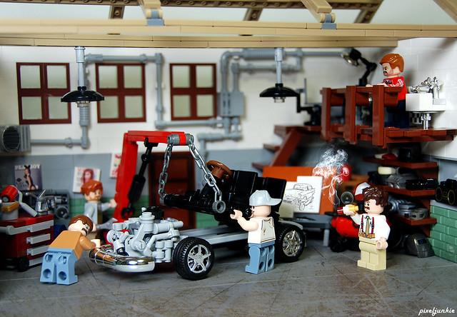 Vintage Garage Diorama Scene 2
