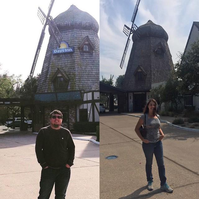 visiting the Windmill Inn, Buellton, CA