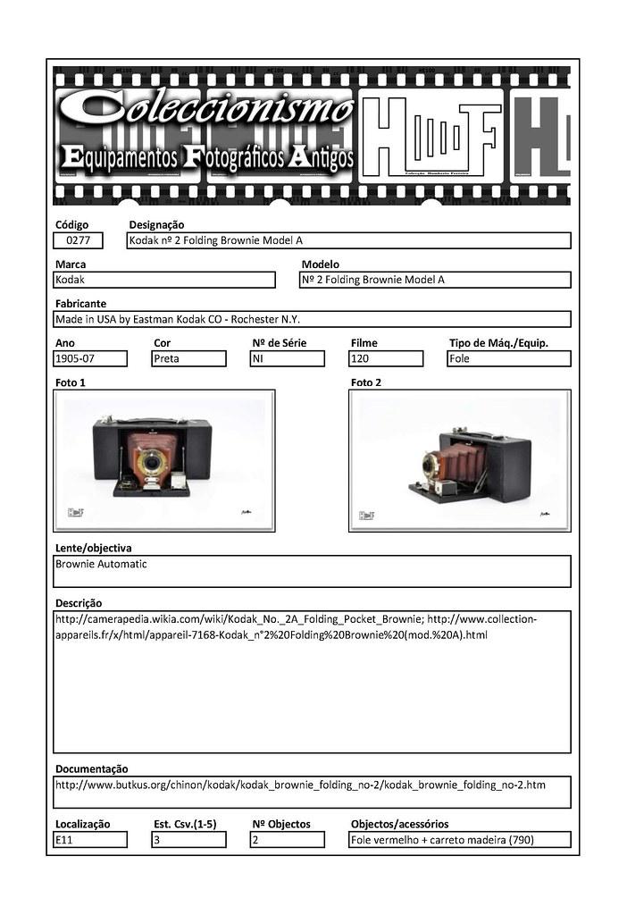 Inventariação da colecção_0277 Kodak nº 2 Folding Brownie Model A