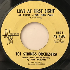 101 STRINGS ORCHESTRA:LOVE AT FIRST SIGHT(JE T'AIME... MOI NON PLUS)(LABEL SIDE-B)