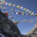 Prayer flags on the Mirgin La