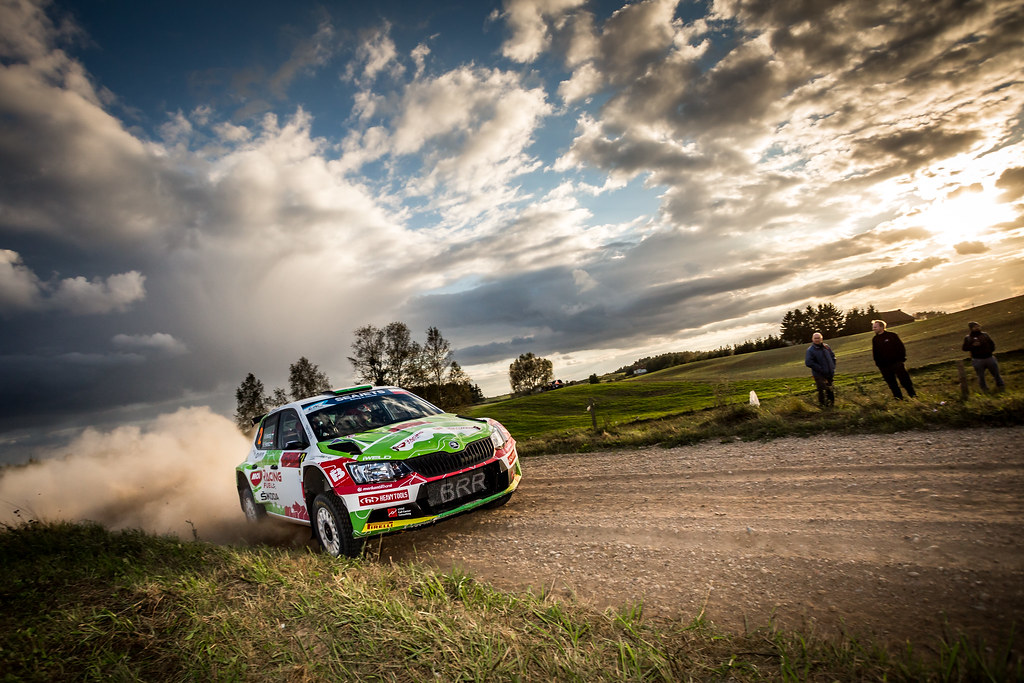 02 HERCZIG Norbert (HUN), FERENCZ Ramon (HUN), MOL RACING TEAM, Skoda Fabia R5, action during the 2018 European Rally Championship Rally Poland at Mikolajki from September 21 to 23 - Photo Thomas Fenetre / DPPI