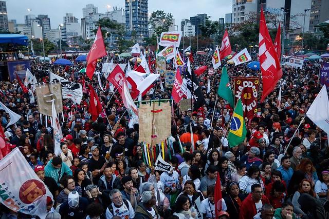 Cerca de 20 mil pessoas participaram de ato em defesa da democracia - Créditos: José Eduardo Bernardes